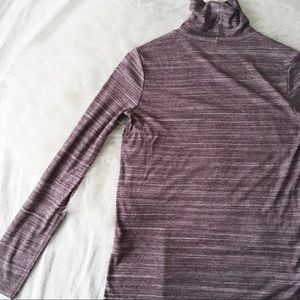 Purple Slim Fit Turtleneck // Banana Republic